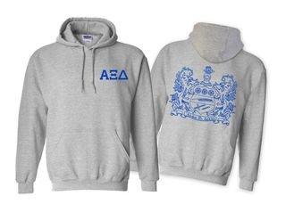 Alpha Xi Delta World Famous Crest Hooded Sweatshirt- $35!