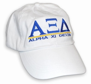 Alpha Xi Delta World Famous Line Hat - MADE FAST!