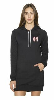 American Apparel Sorority Flex Fleece Hooded Dress