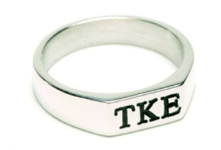 Fraternity or Sorority Deep Cut Antique Ring