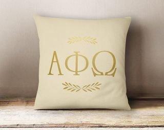 APhiO Foil Letters Pillow