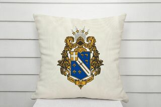APhiO Linen Crest - Shield Pillow