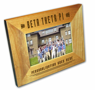 "Beta Theta Pi 4"" x 6"" Stripes  Custom Picture Frame"