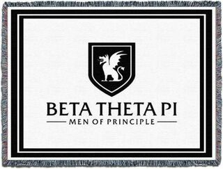 "Beta Theta Pi ""Men Of Principle"" Blanket Throw"