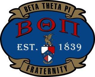 Beta Theta Pi Banner Crest - Shield Decal