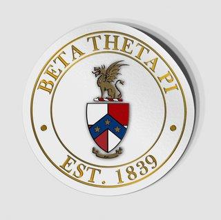 Beta Theta Pi Circle Crest - Shield Decal