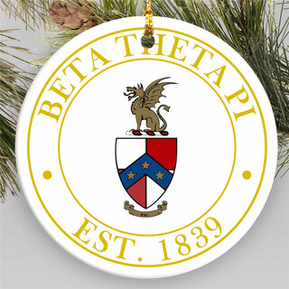 Beta Theta Pi Circle Crest Round Ornaments