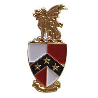 Beta Theta Pi Color Crest - Shield Pins