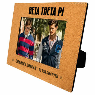 Beta Theta Pi Cork Photo Frame