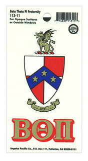 Beta Theta Pi Crest Decal