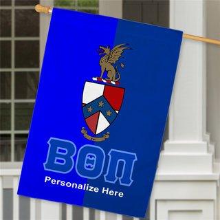 Beta Theta Pi Crest House Flag