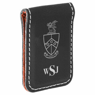 Beta Theta Pi Crest Leatherette Money Clip