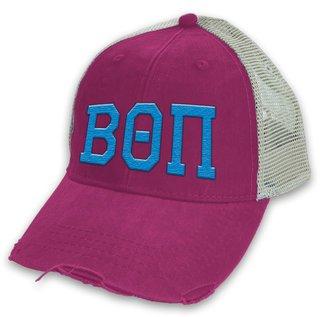 Beta Theta Pi Distressed Trucker Hat