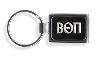 Beta Theta Pi Engraved Chrome Keychains