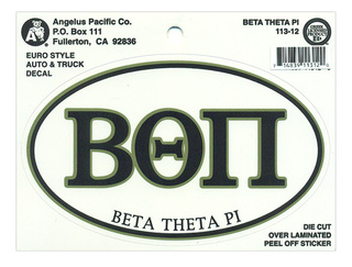 Beta Theta Pi Euro Decal Oval Sticker