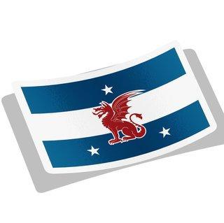 Beta Theta Pi Flag Decal Sticker