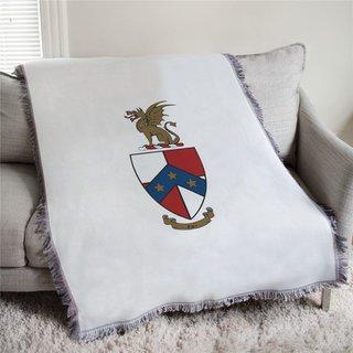 Beta Theta Pi Full Color Crest Afghan Blanket Throw
