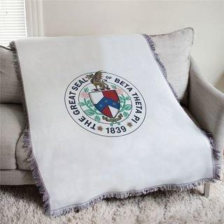 Beta Theta Pi Great Seal  Afghan Blanket Throw
