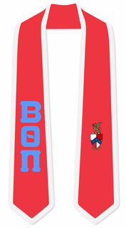 DISCOUNT-Beta Theta Pi Greek 2 Tone Lettered Graduation Sash Stole