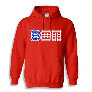 DISCOUNT-Beta Theta Pi Greek Letter American Flag Hoodie