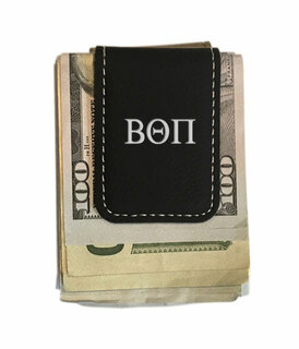 Beta Theta Pi Greek Letter Leatherette Money Clip