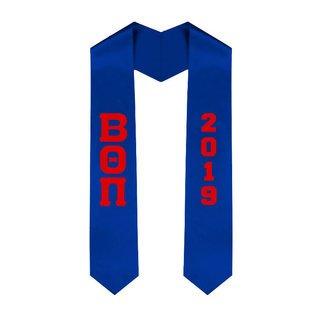 Beta Theta Pi Greek Lettered Graduation Sash Stole With Year - Best Value