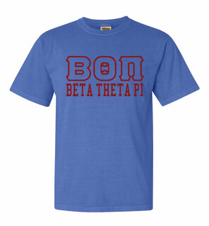 Beta Theta Pi Greek Outline Comfort Colors Heavyweight T-Shirt