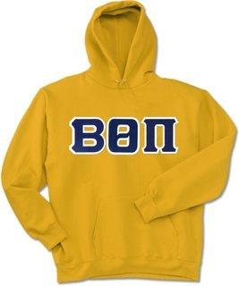 Beta Theta Pi Lettered Hooded Sweatshirt