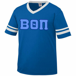 DISCOUNT-Beta Theta Pi Jersey With Greek Applique Letters