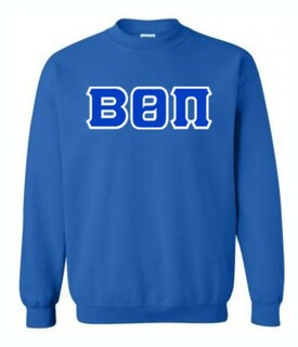 Beta Theta Pi Sewn Lettered Crewneck Sweatshirt