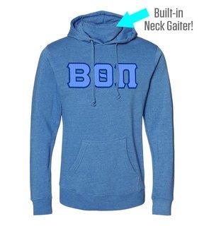 Beta Theta Pi Lettered Gaiter Fleece Hooded Sweatshirt