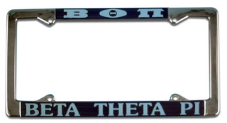 Beta Theta Pi License Plate Frame