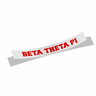 Beta Theta Pi Long Window Sticker