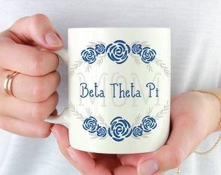 Beta Theta Pi Mom Floral Mug