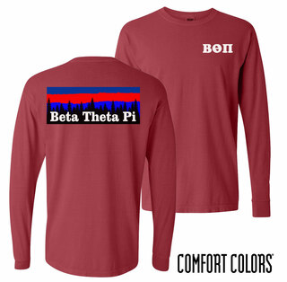 Beta Theta Pi Outdoor Long Sleeve T-shirt - Comfort Colors