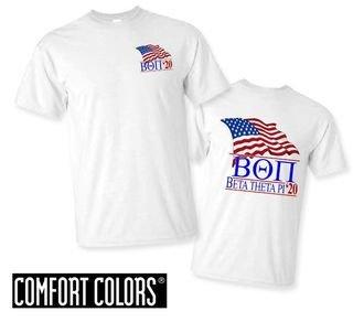 Beta Theta Pi Patriot  Limited Edition Tee - Comfort Colors