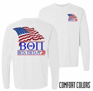 Beta Theta Pi Patriot Long Sleeve T-shirt - Comfort Colors