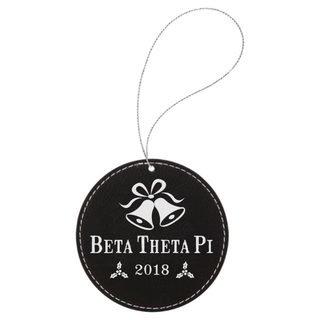 Beta Theta Pi Leatherette Holiday Ornament