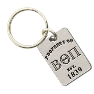 Beta Theta Pi Property of Tag Keychain
