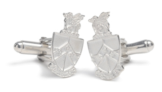 Beta Theta Pi Sterling Silver Crest Cufflinks