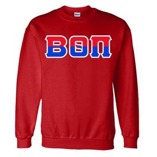 Beta Theta Pi Two Tone Greek Lettered Crewneck Sweatshirt