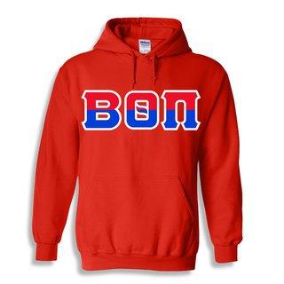 Beta Theta Pi Two Tone Greek Lettered Hooded Sweatshirt