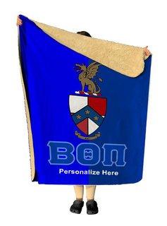 Beta Theta Pi Two Tone Sherpa Lap Blanket