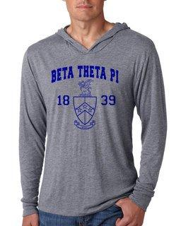 Beta Theta Pi Unisex Triblend Long-Sleeve Hoodie