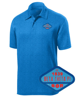DISCOUNT-Beta Theta Pi Woven Emblem Greek Contender Polo