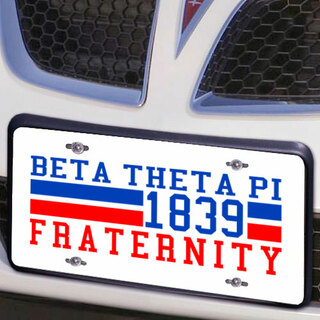 Beta Theta Pi Year License Plate Cover