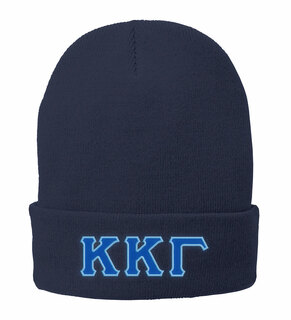 Big Greek Lettered Knit Cap