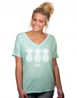 Big & Little Pineapple Slouchy V Neck