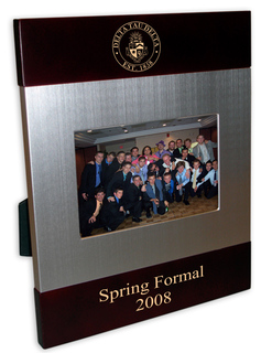 Brushed Crest Greek Picture Frames