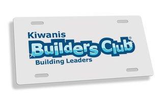 Builders Club Custom License Plate Frame